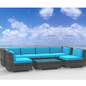Urban Furnishing OAHU 7pc Patio Sofa
